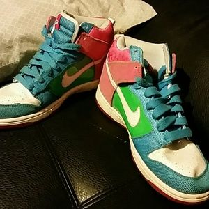 Nike high top multi colored
